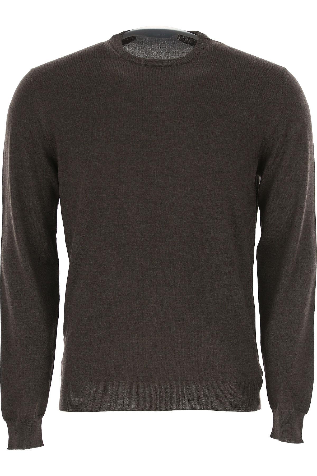 Image of Zanone Sweater for Men Jumper, Dark Brown, Wool, 2017, L XL XXL XXXL