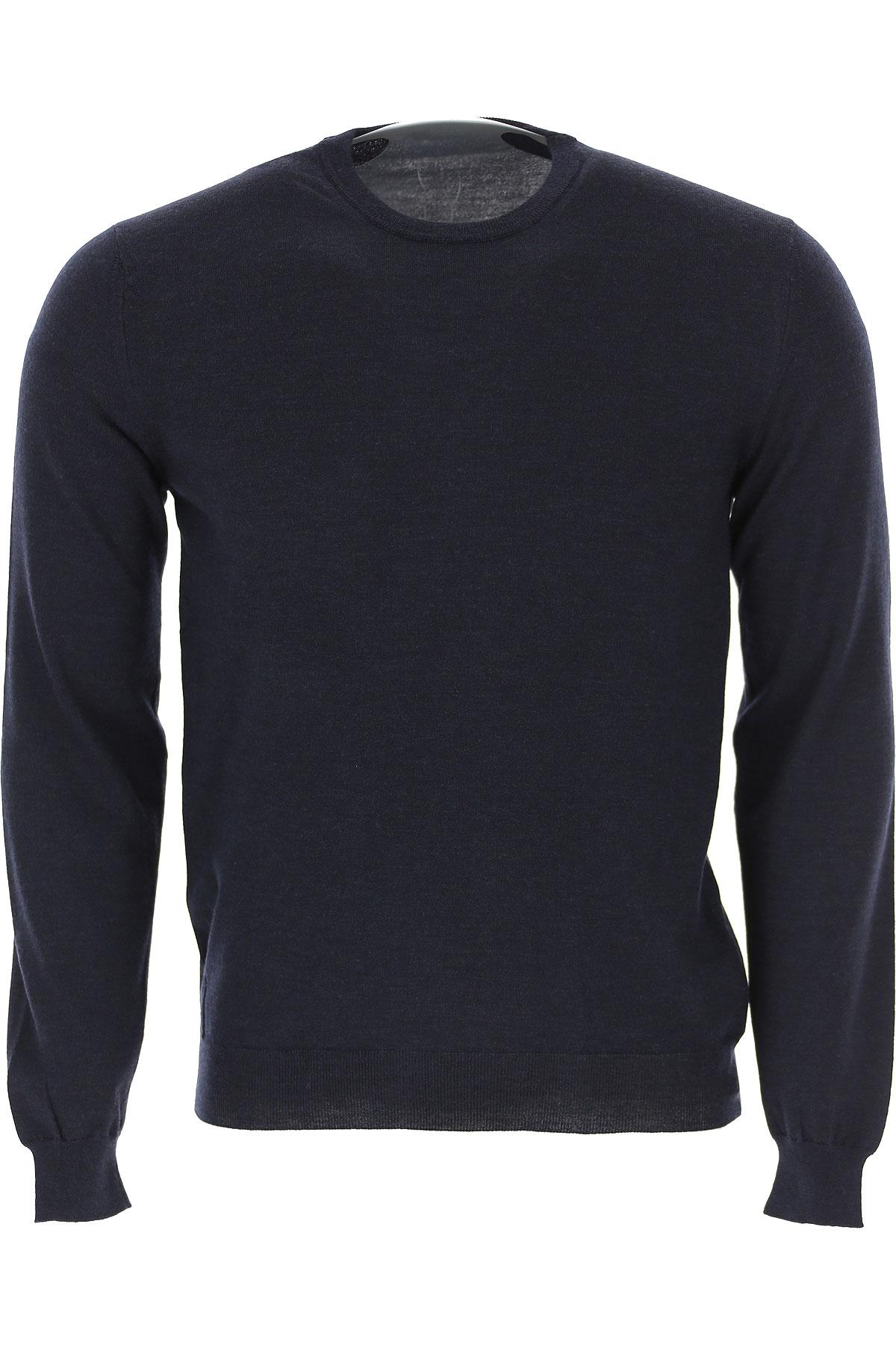 Zanone Sweater for Men Jumper On Sale, Dark Blue, Virgin wool, 2019, L M S