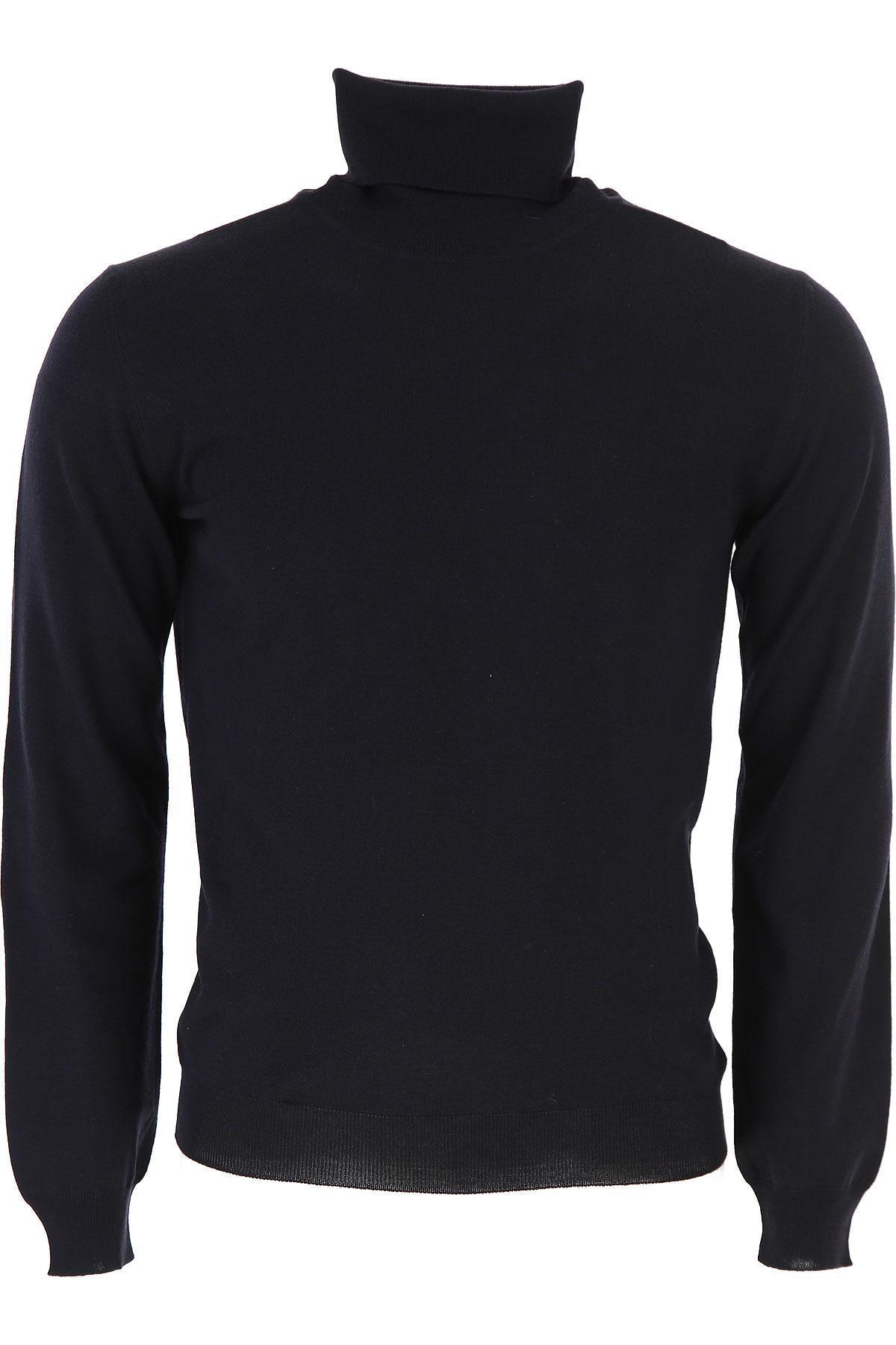Zanone Sweater for Men Jumper On Sale, Blue Navy Melange, Virgin wool, 2019, L S