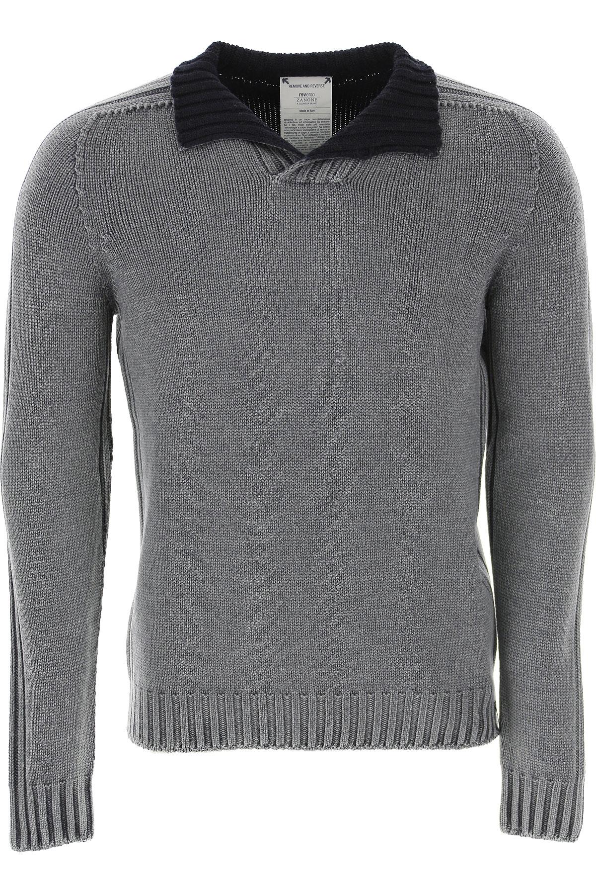 Zanone Sweater for Men Jumper On Sale, Grey, Virgin wool, 2019, L M S