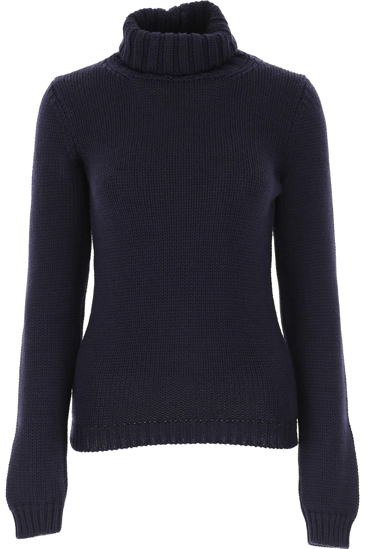 Zanone Sweater for Women Jumper On Sale, Dark Blue, Wool, 2019, 10 8