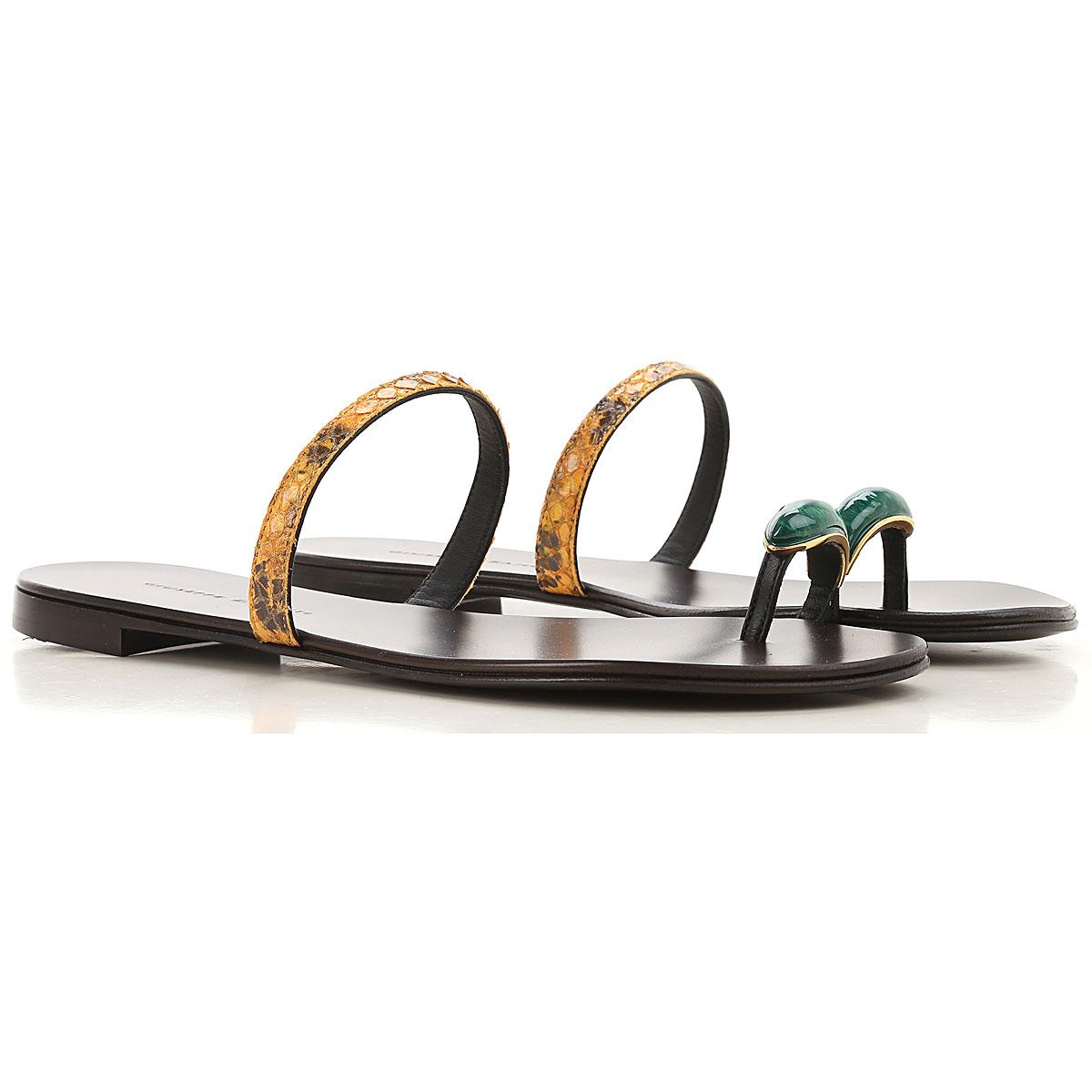 Giuseppe Zanotti Design Sandals for Women On Sale, Black, Leather, 2019, 6 8