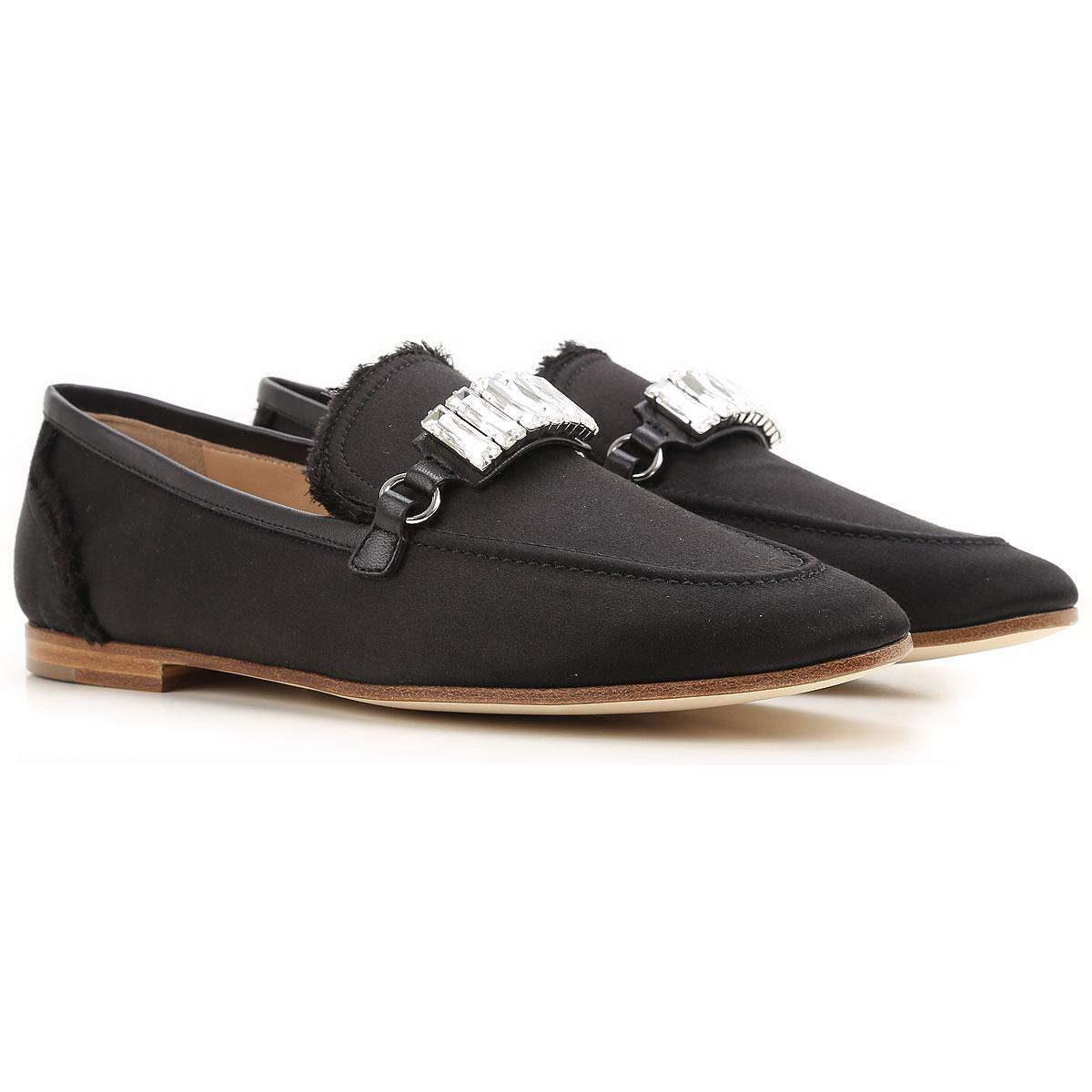 Giuseppe Zanotti Design Slip on Sneakers for Women On Sale in Outlet, Black, satin, 2019, 10 6 7 8 8.5 9 9.5