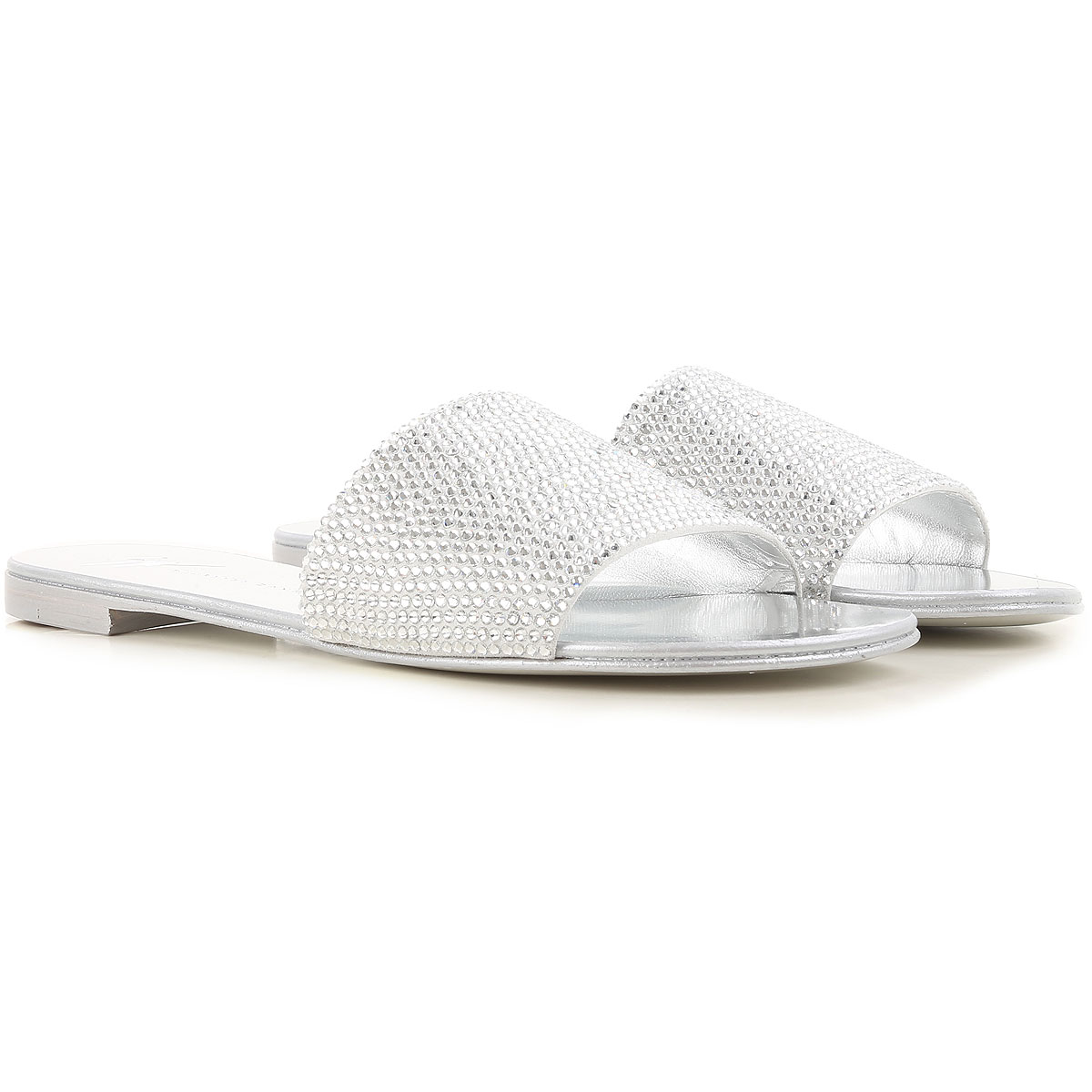 Giuseppe Zanotti Design Sandals for Women On Sale in Outlet, Silver, Leather, 2019, 8.5