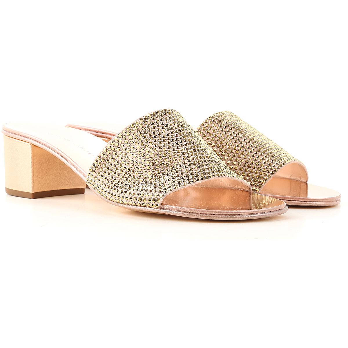 Giuseppe Zanotti Design Sandals for Women On Sale, Golden Rose, Leather, 2019, 10 6