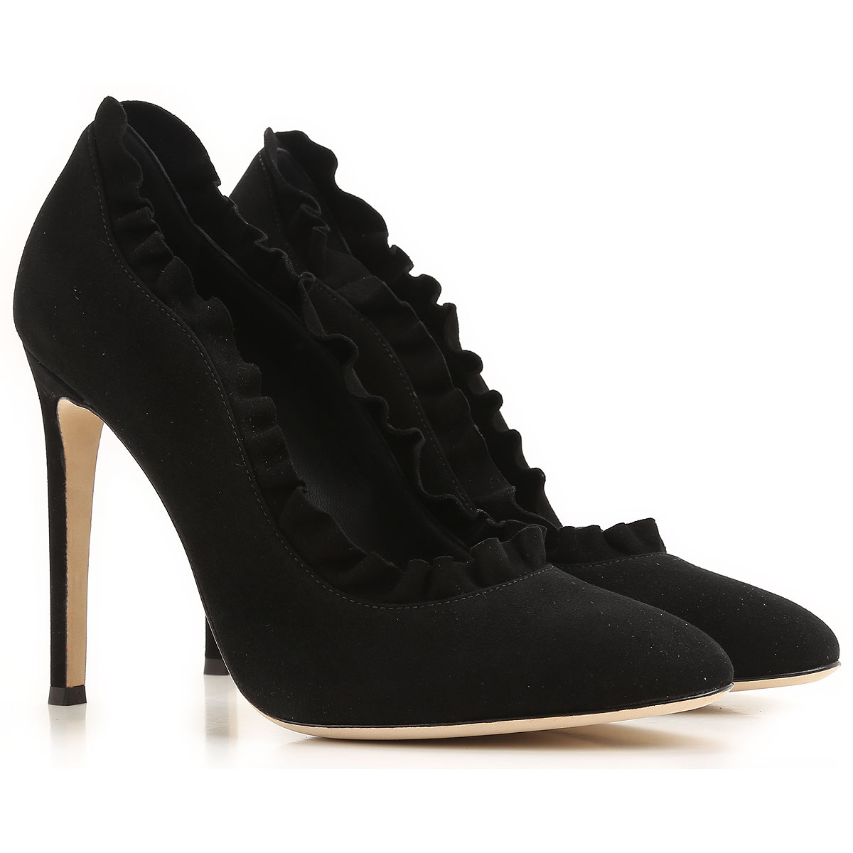Giuseppe Zanotti Design Pumps & High Heels for Women On Sale in Outlet, Bimba , Black, suede, 2019, 6