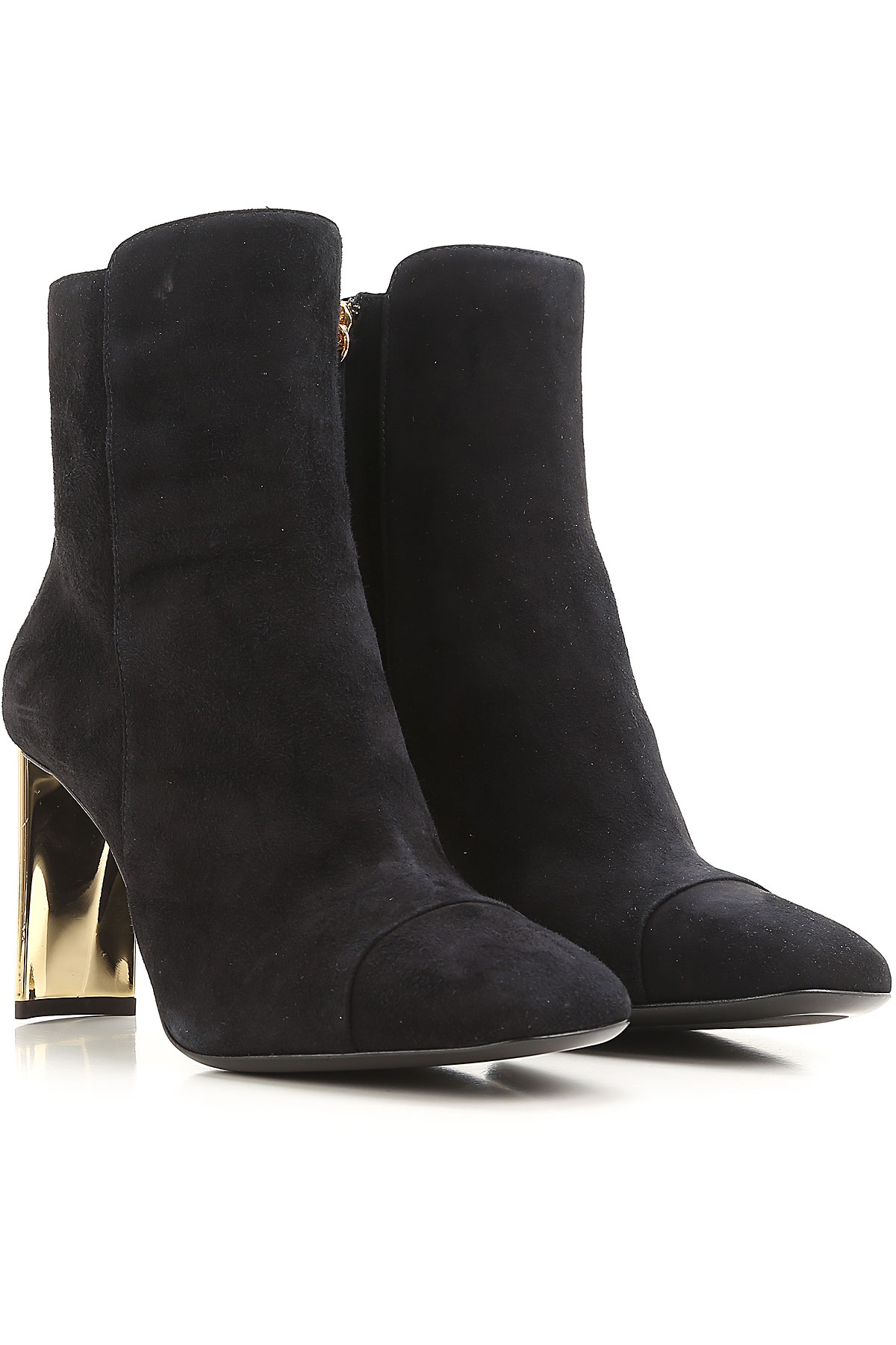 Giuseppe Zanotti Design Boots for Women, Booties On Sale in Outlet, Black, suede, 2019, 7 8