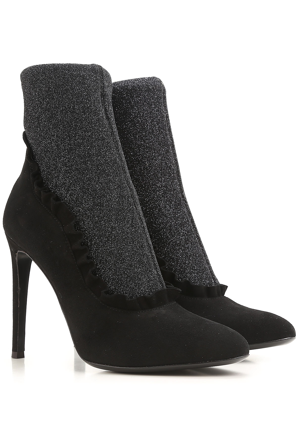 Giuseppe Zanotti Design Boots for Women, Booties On Sale in Outlet, Black, suede, 2019, 10