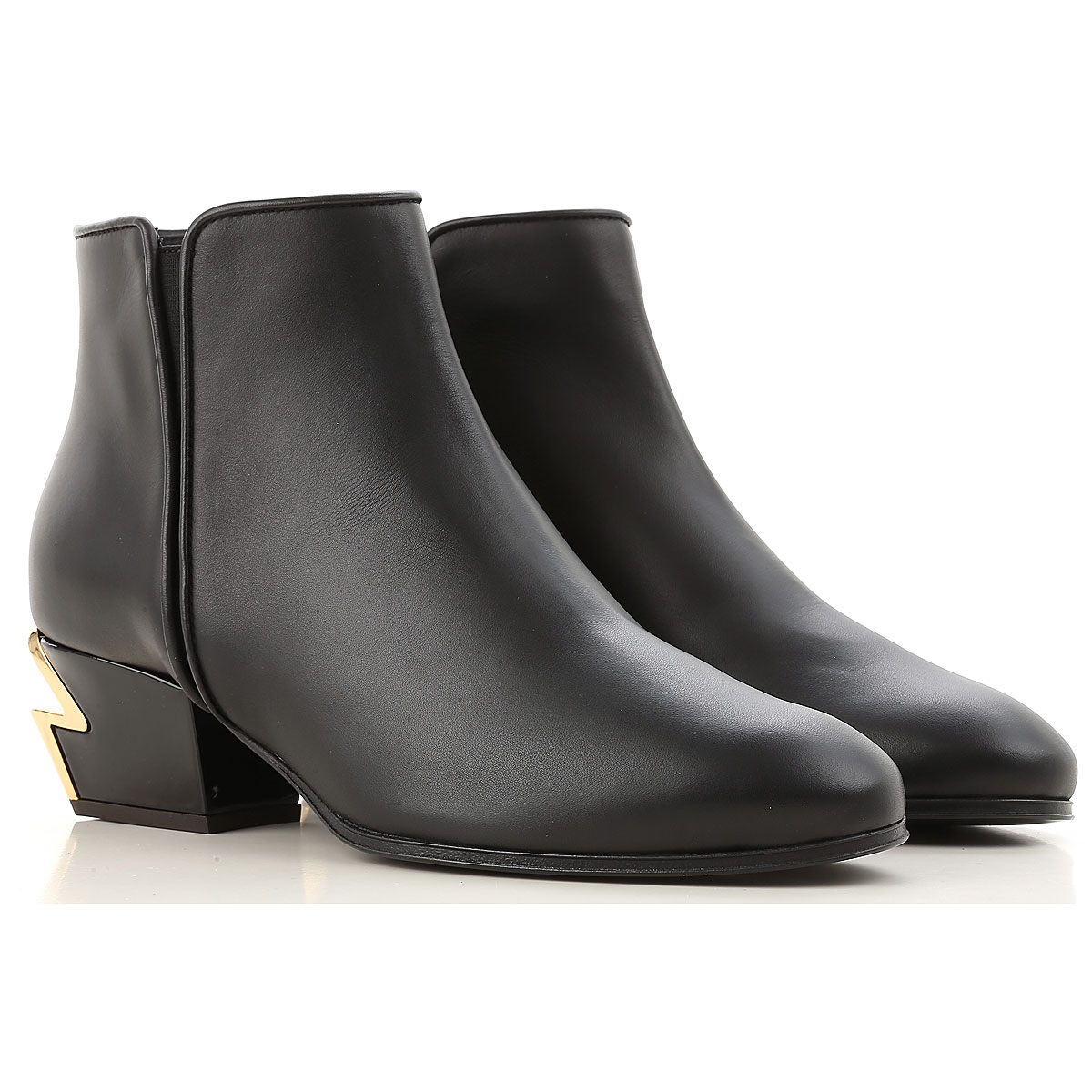 Giuseppe Zanotti Design Boots for Women, Booties On Sale in Outlet, Black, Leather, 2019, 10 6 8.5