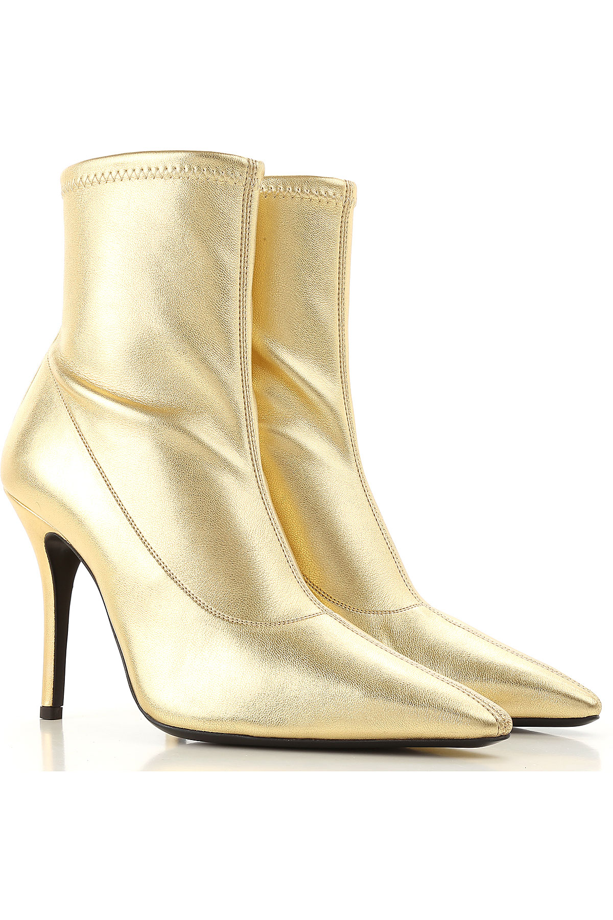 Image of Giuseppe Zanotti Design Jeans, Gold, Leather, 2017, 10 6 7 8 8.5 9