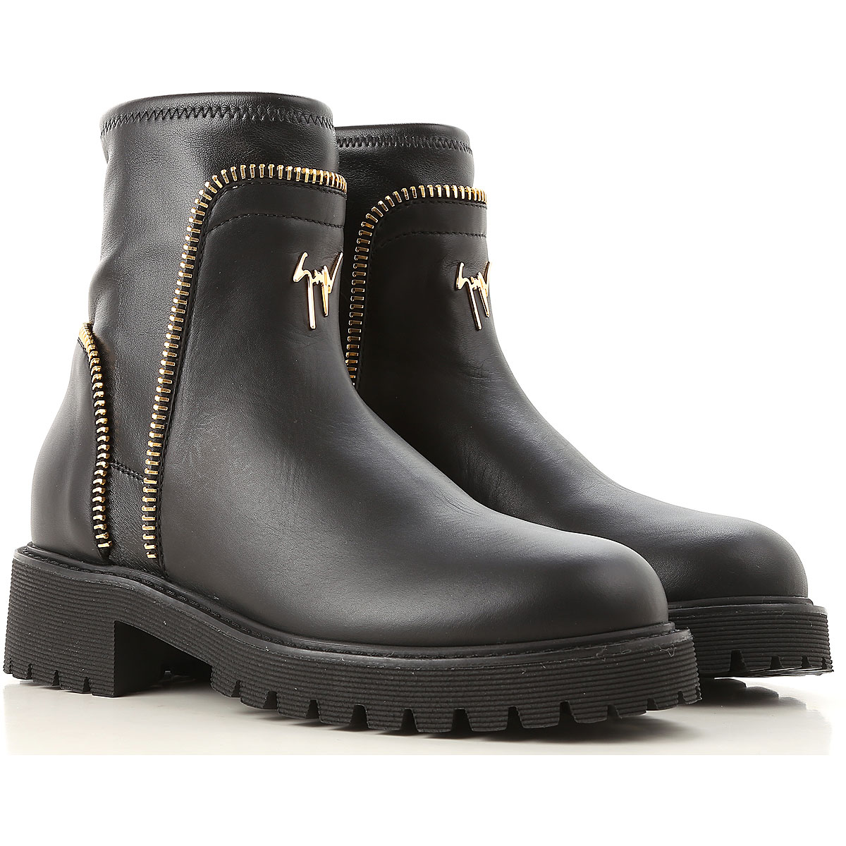 Image of Giuseppe Zanotti Design Boots for Women, Booties, Black, Leather, 2017, 10 11 5 6 6.5 7 8 8.5 9 9.5