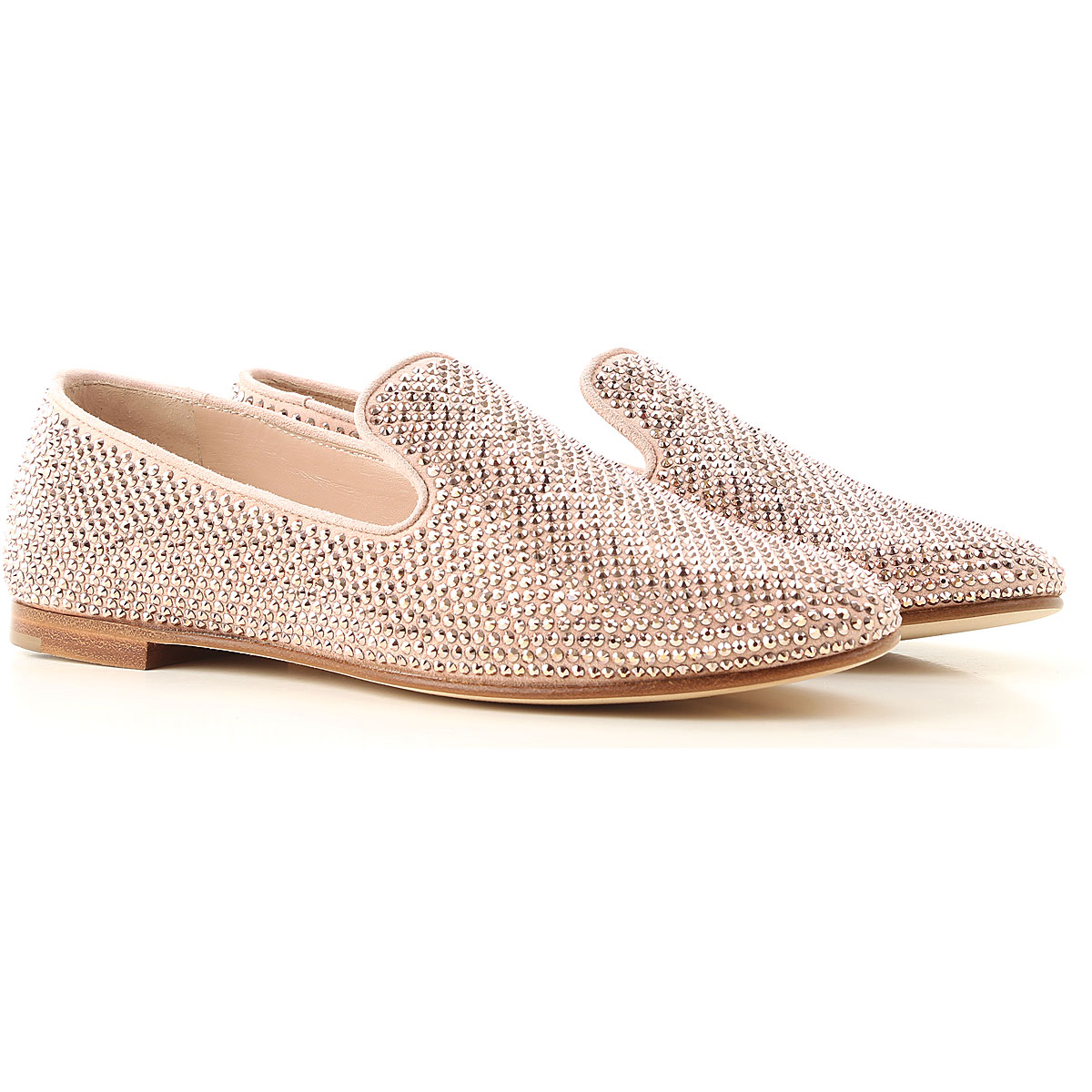 Giuseppe Zanotti Design Loafers for Women On Sale, Pink, Suede leather, 2019, 10 6 8