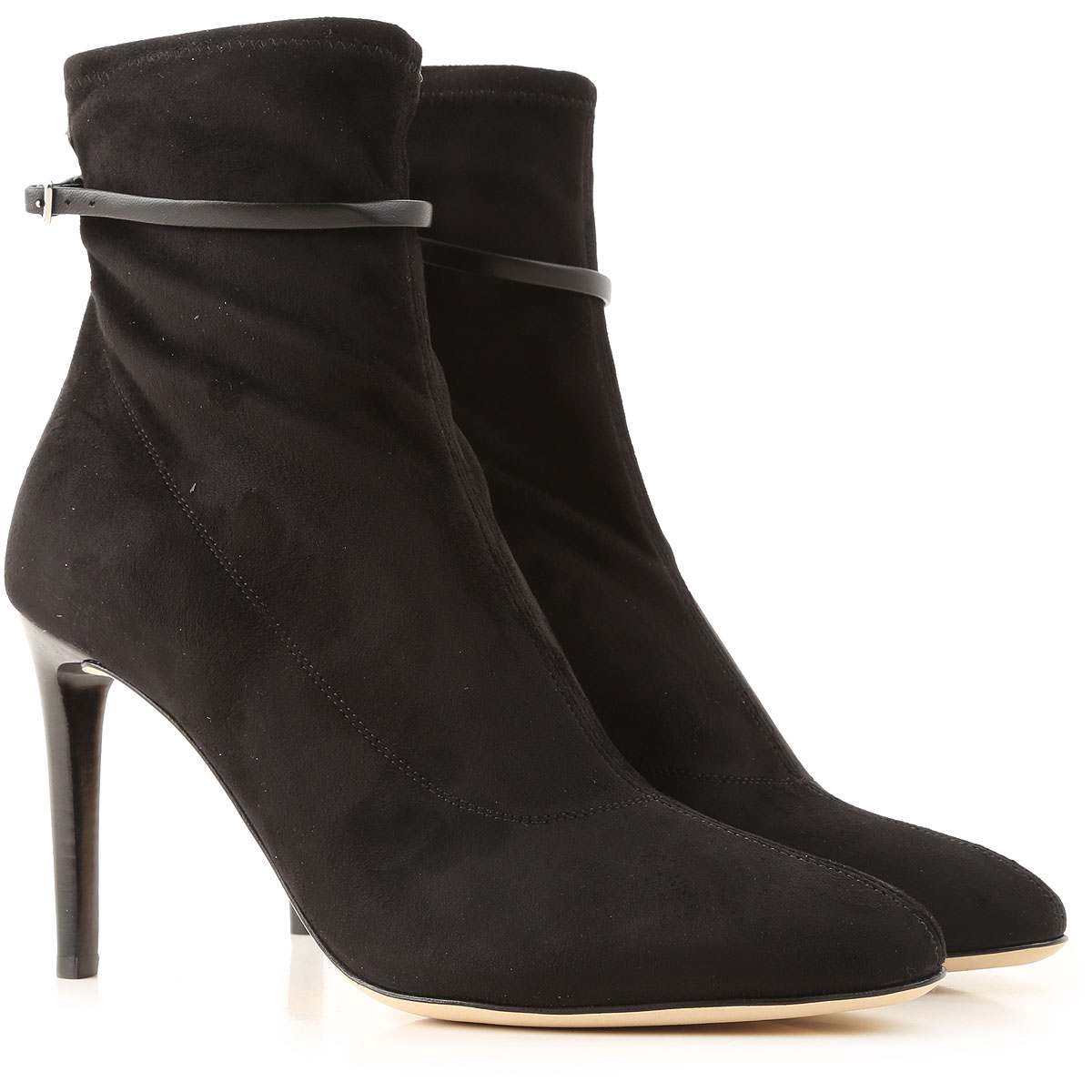 Giuseppe Zanotti Design Boots for Women, Booties On Sale in Outlet, Black, Suede leather, 2019, 8 9