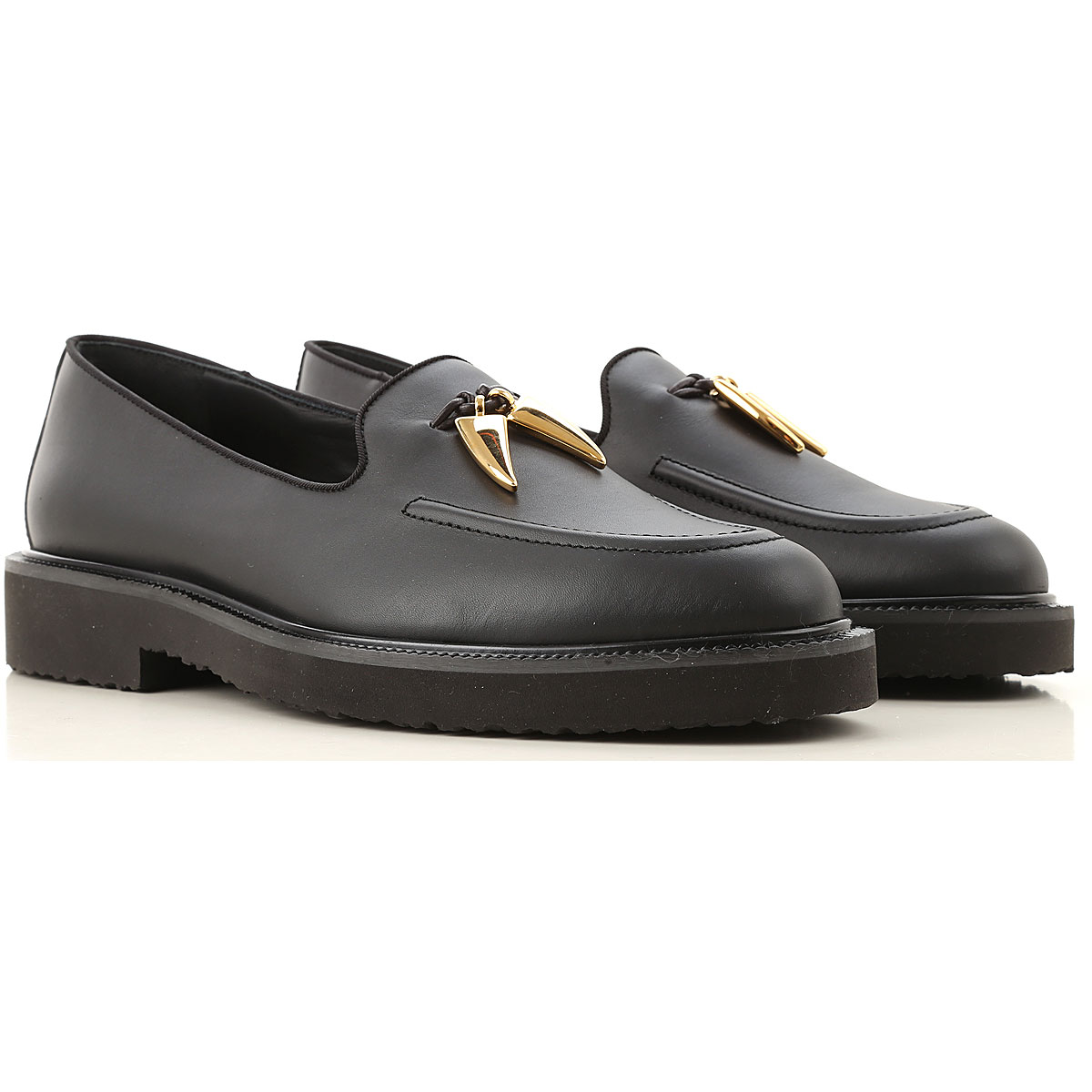 Giuseppe Zanotti Design Loafers for Men On Sale in Outlet, Black, Leather, 2019, 7.5 8