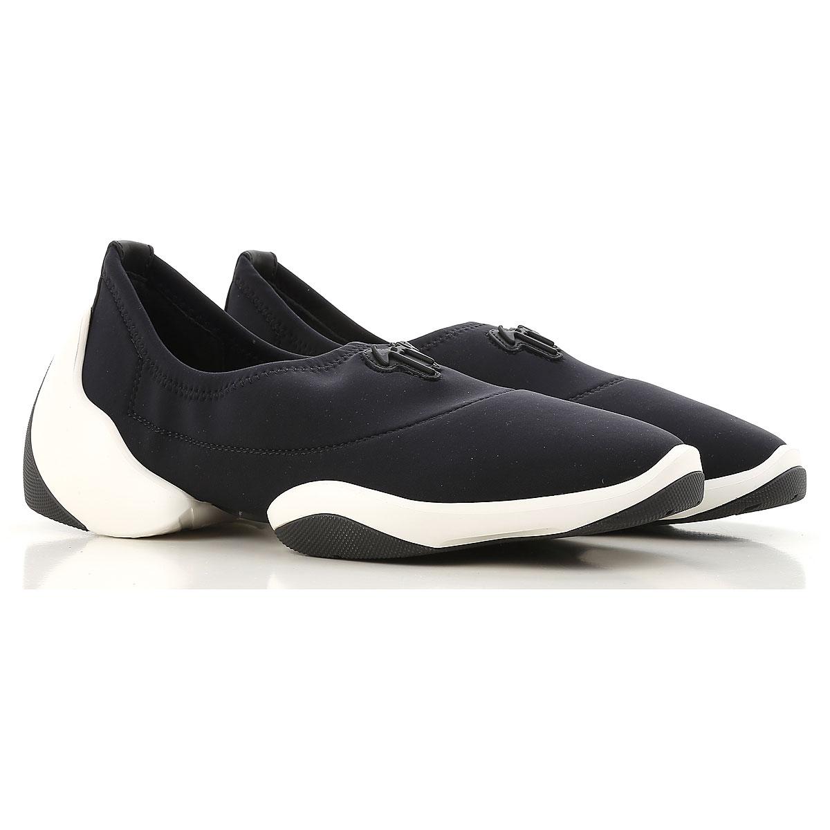 Giuseppe Zanotti Design Slip on Sneakers for Women On Sale in Outlet, Black, Neoprene, 2019, 9 9.5