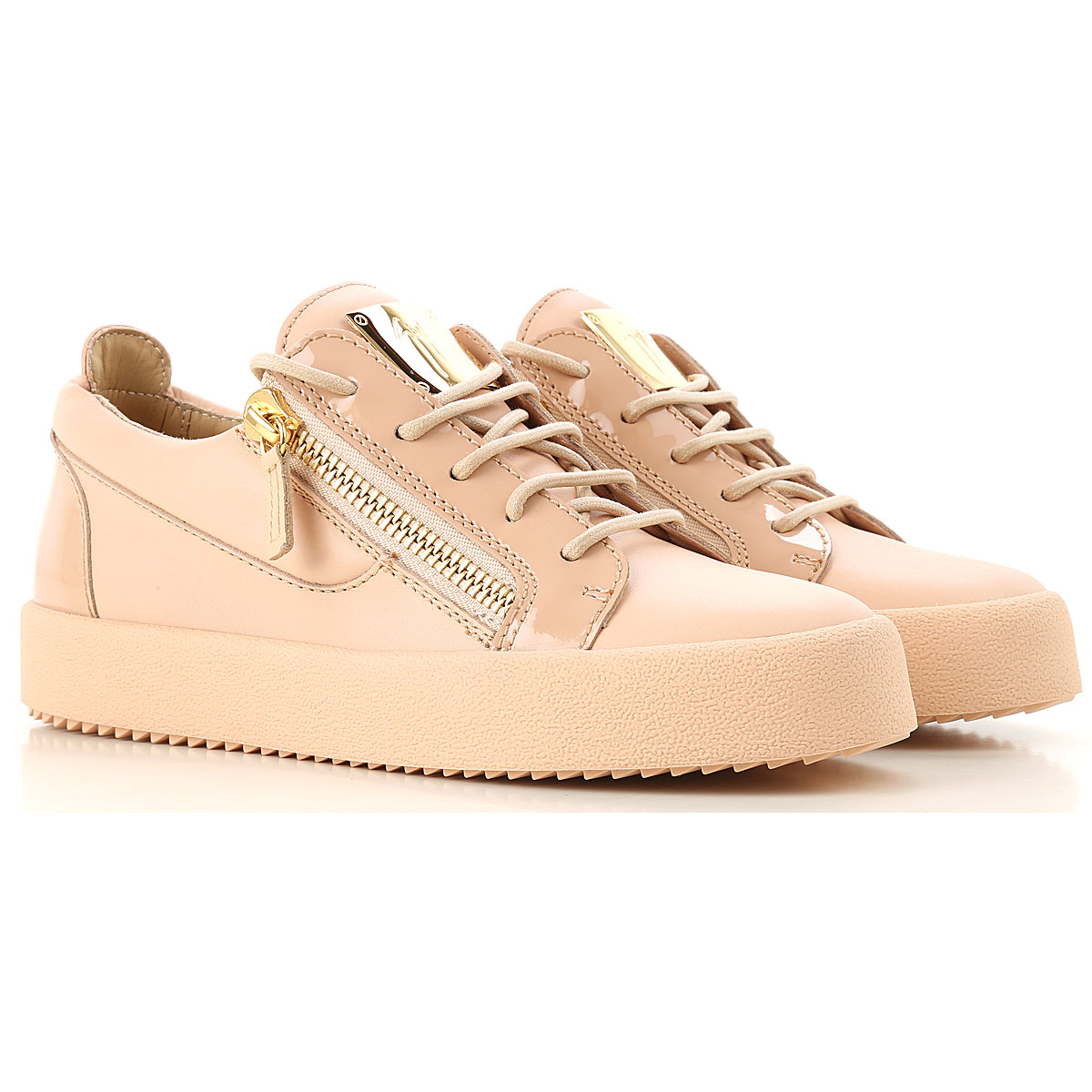 Giuseppe Zanotti Design Sneakers for Women On Sale in Outlet, Nude Pink, Leather, 2019, 10 5 6