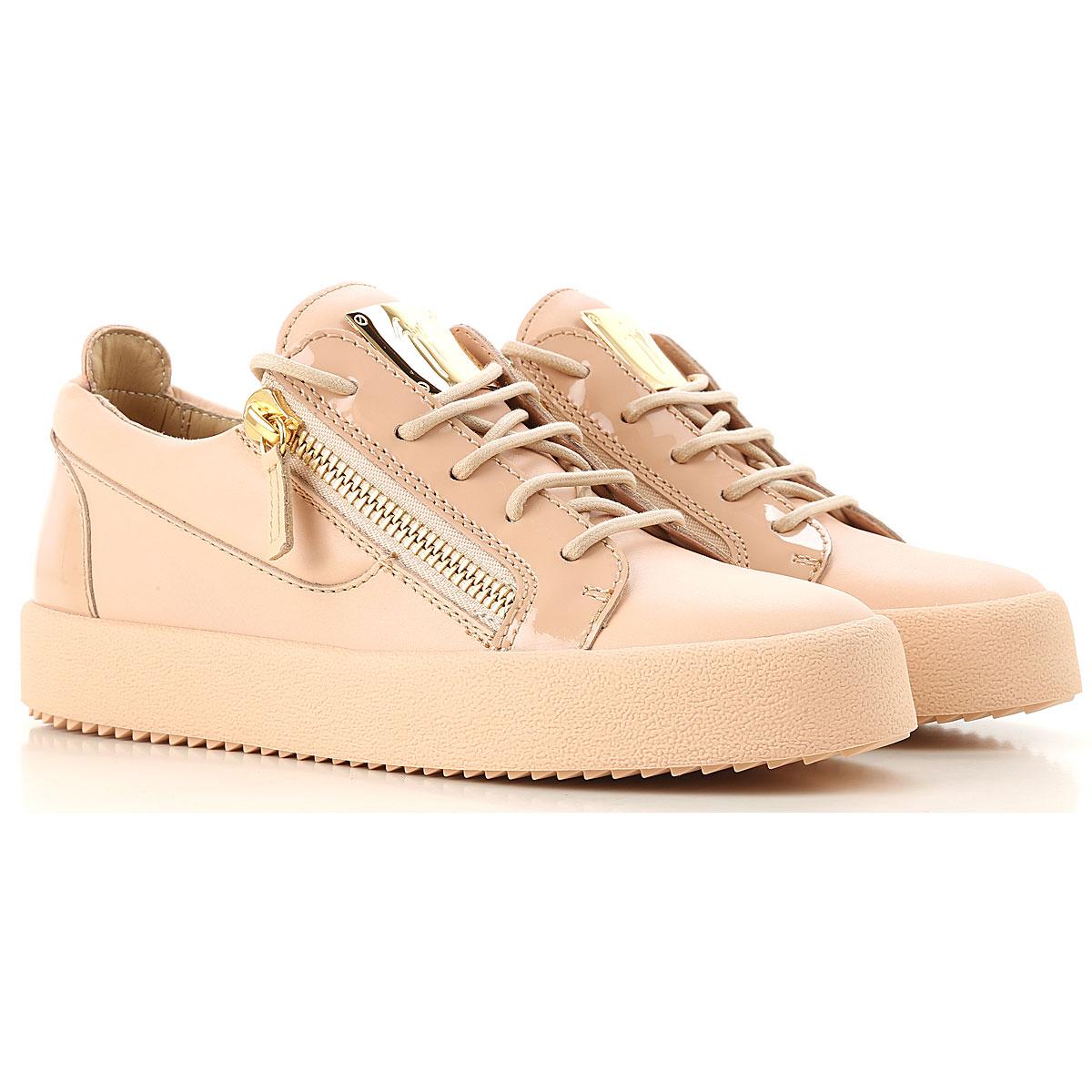 Giuseppe Zanotti Design Sneakers for Women, Nude Pink, Leather, 2017, 5 6 7 8 9 USA-474694