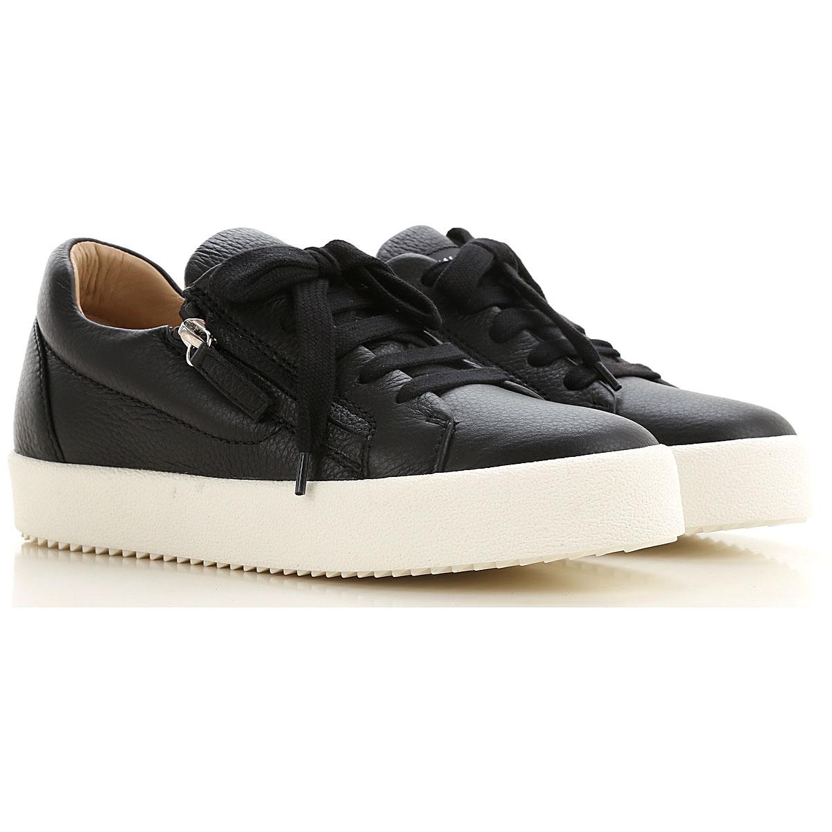 Giuseppe Zanotti Design Slip on Sneakers for Women On Sale, Black, Leather, 2019, 10 5.5 6 6.5 7 8 8.5 9.5
