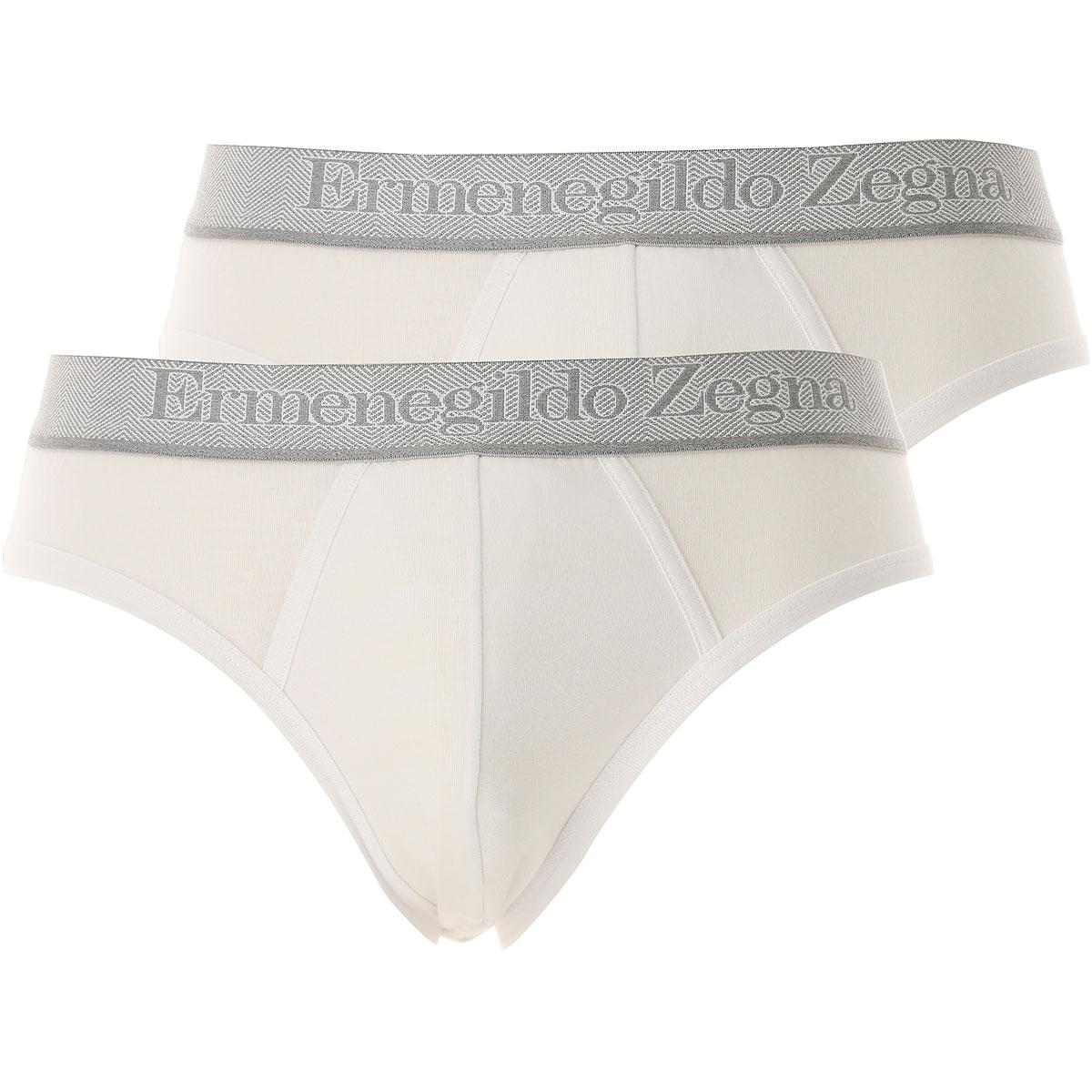 Ermenegildo Zegna Briefs for Men On Sale, 2 Pack, White, Cotton, 2019, S (EU 3) L (EU 5) XL (EU 6)