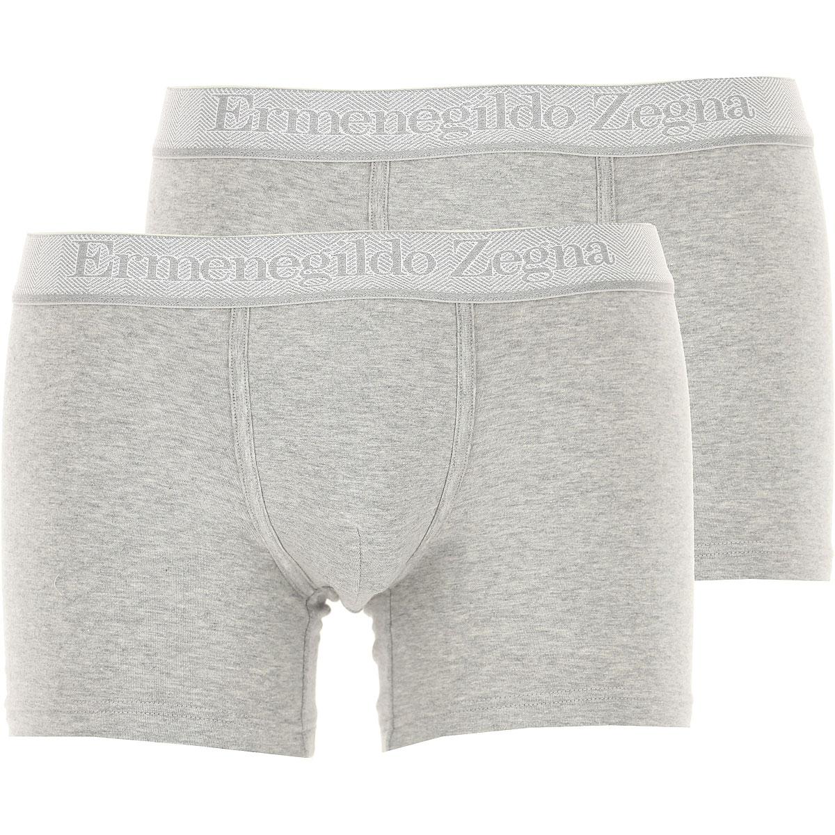 Ermenegildo Zegna Boxer Briefs for Men, Boxers On Sale, 2 Pack, Grey Melange, Cotton, 2019, S (EU 3) L (EU 5) XL (EU 6)