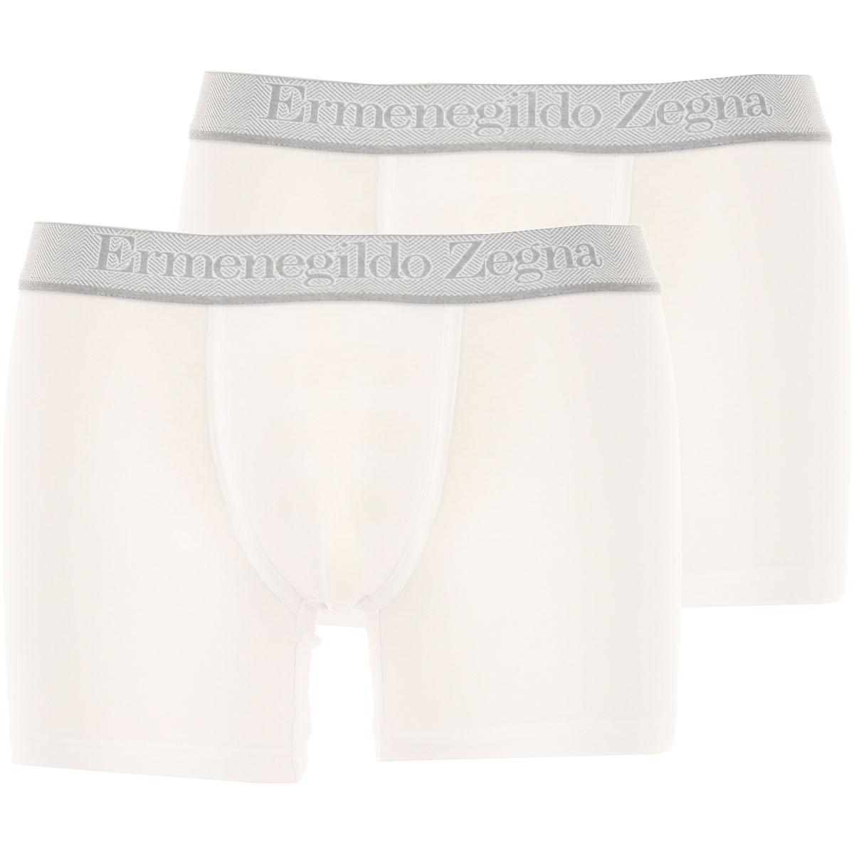 Ermenegildo Zegna Boxer Briefs for Men, Boxers On Sale, 2 Pack, White, Cotton, 2019, M (EU 4) S (EU 3) L (EU 5) XL (EU 6)