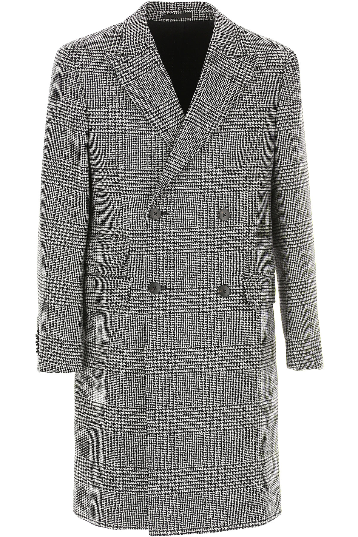 Ermenegildo Zegna Men's Coat, Grey, Wool, 2019, L XL