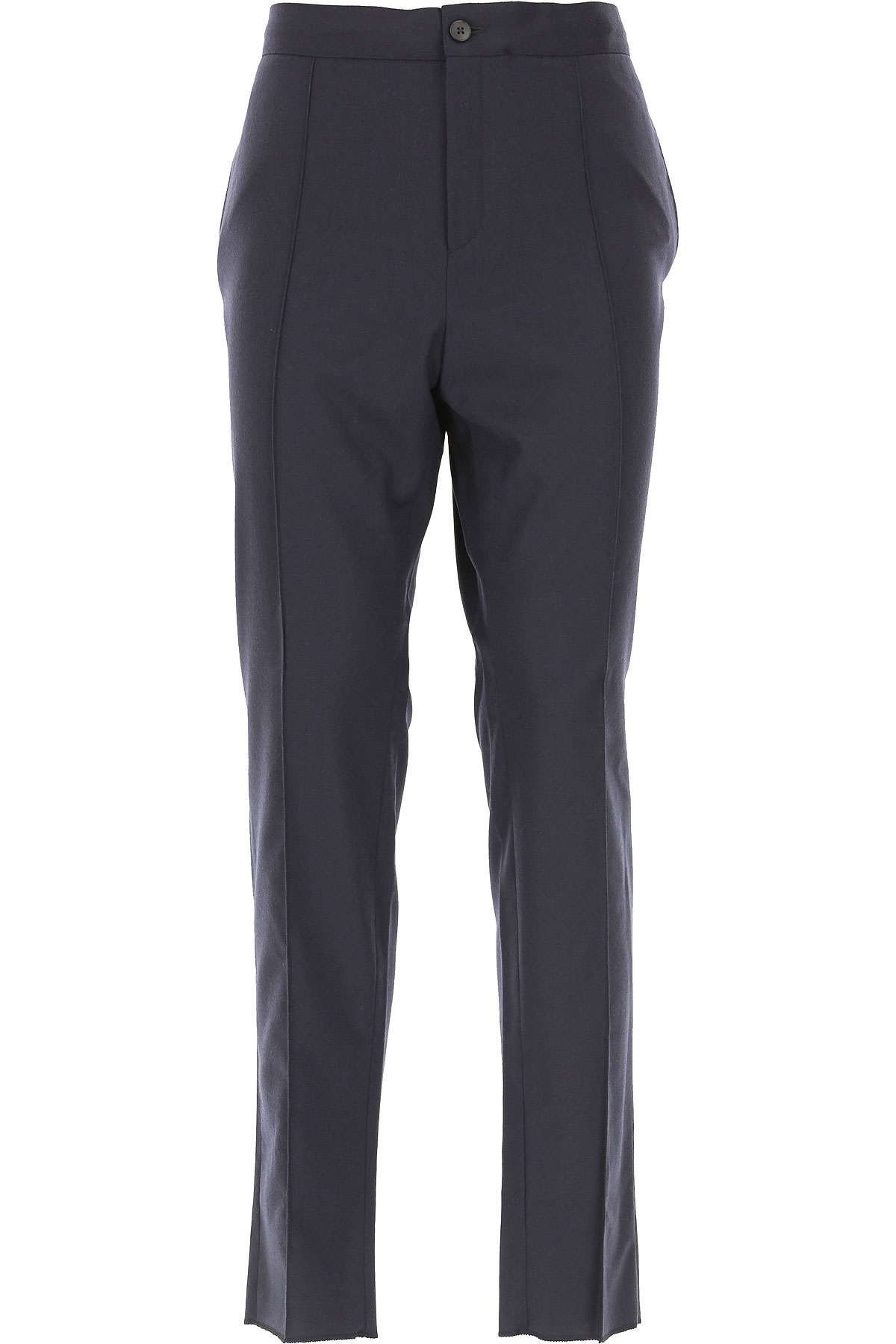 Ermenegildo Zegna Pants for Men, Dark Blue, Wool, 2019, 30 32