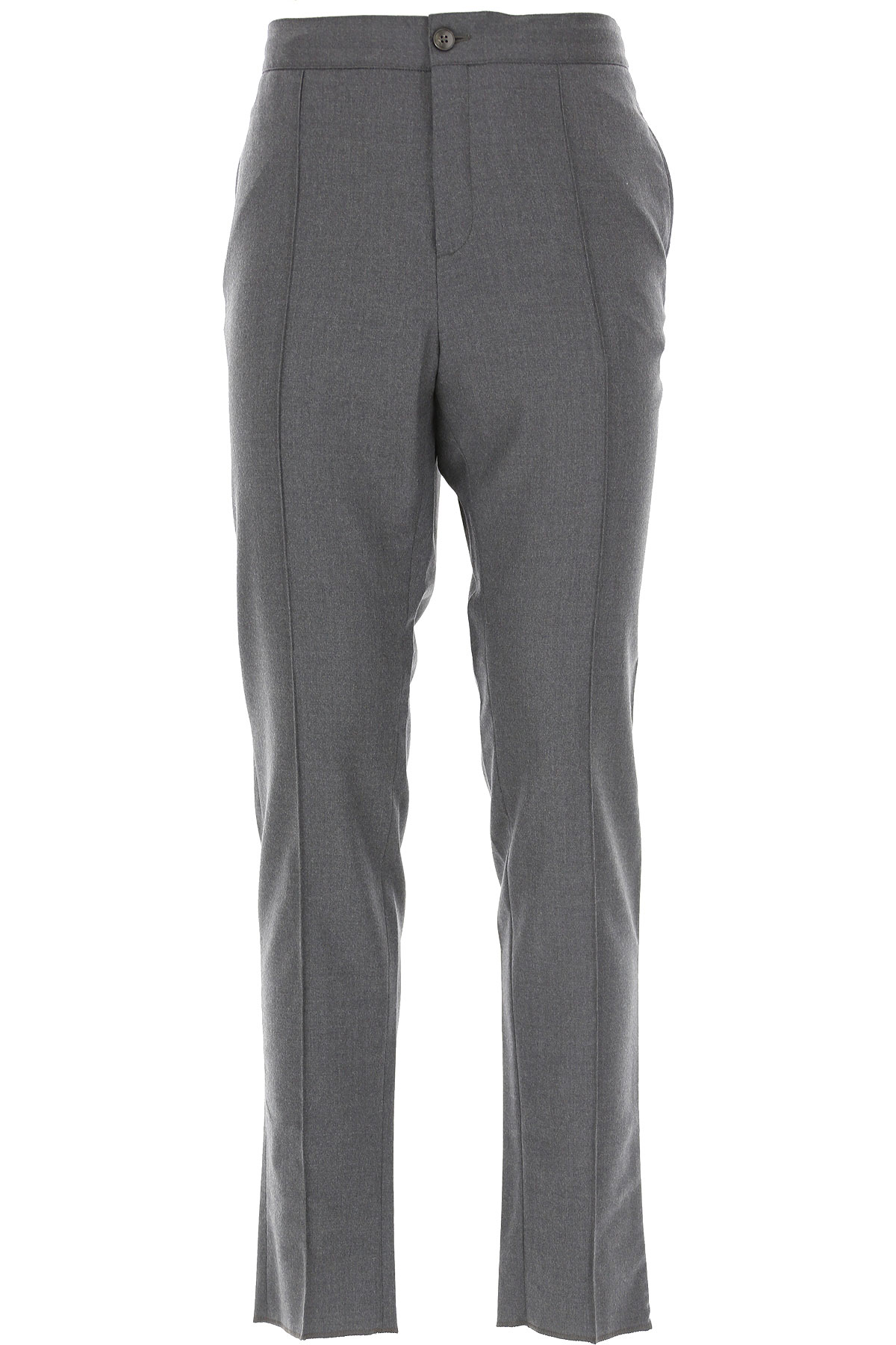 Ermenegildo Zegna Pants for Men, Dark Grey, Wool, 2019, 30 32