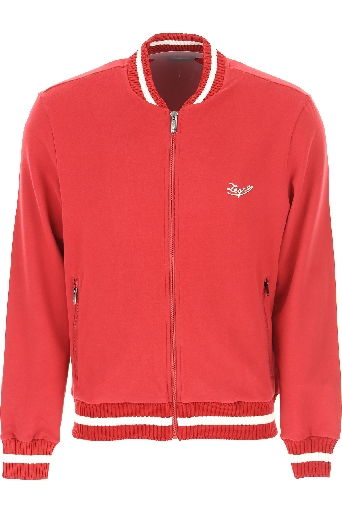 Ermenegildo Zegna Sweatshirt for Men, Red, Cotton, 2017, L M S XL USA-470924