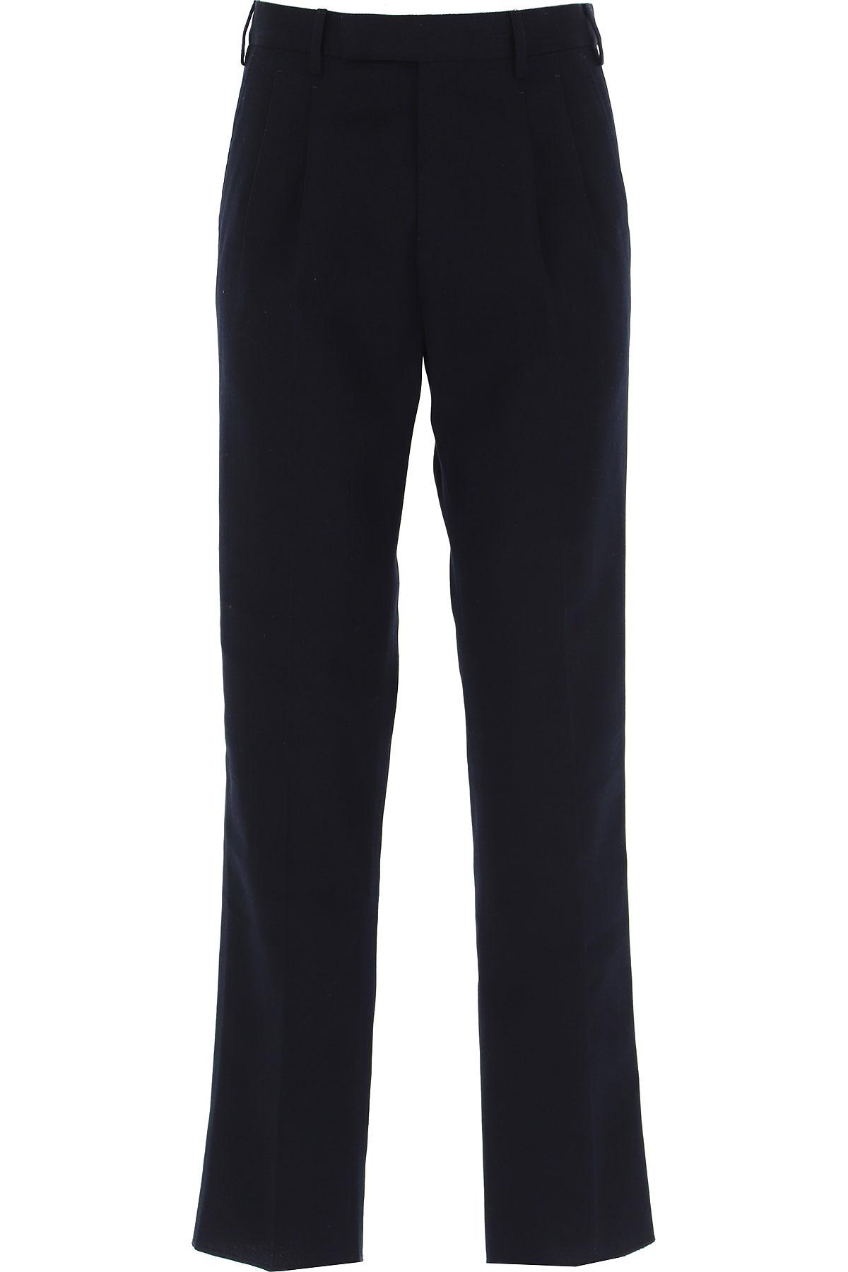 Ermenegildo Zegna Pants For Men, Black, Cotton, 2021, 32 34 36