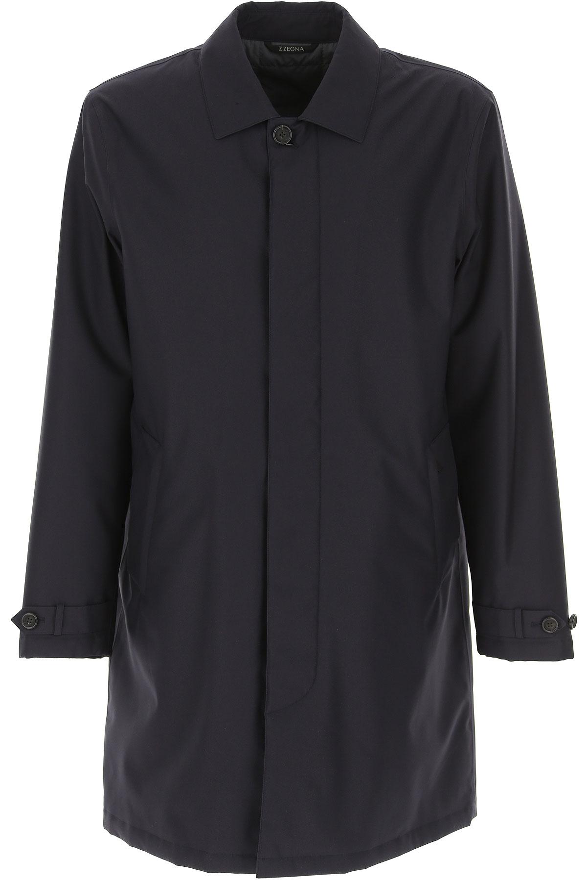 Ermenegildo Zegna Jacket for Men On Sale, Blue Navy, polyester, 2019, L M XL