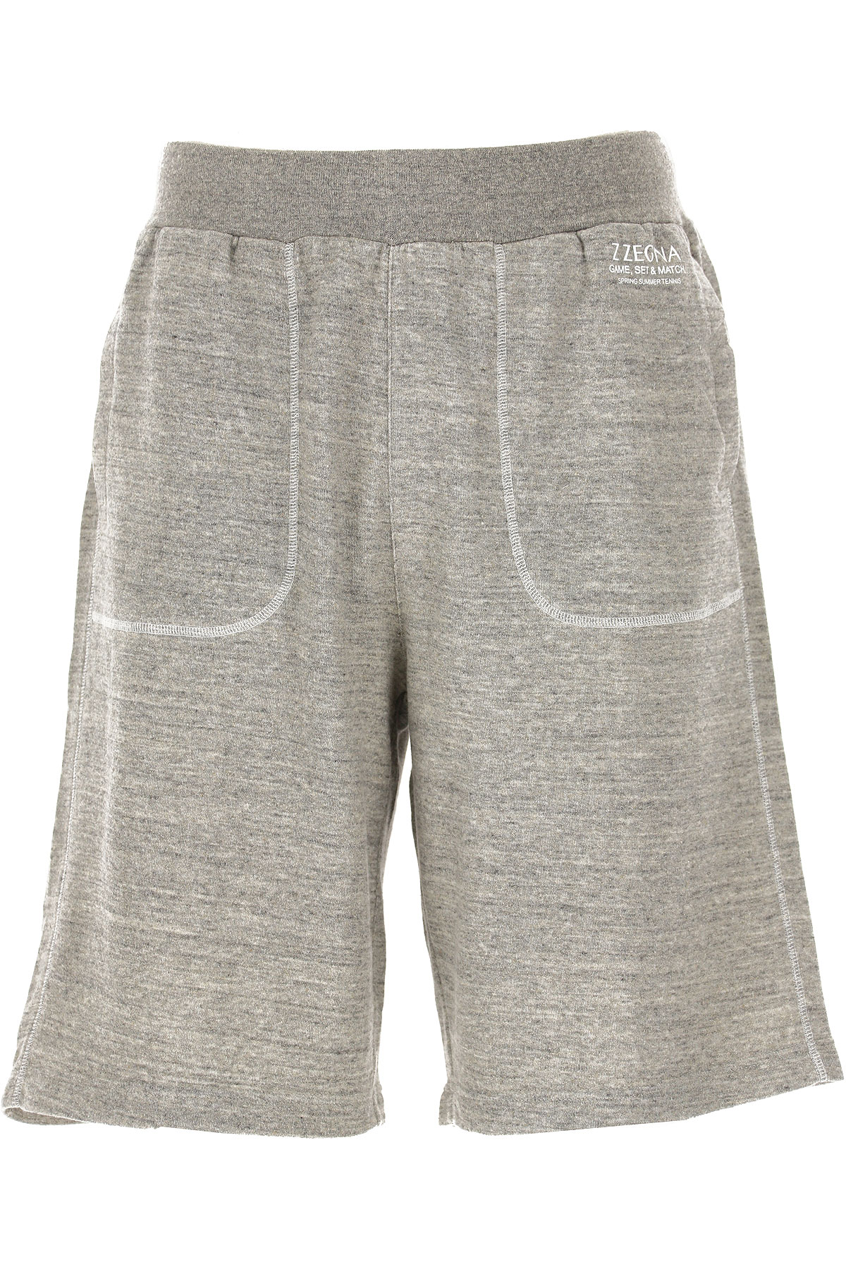 Ermenegildo Zegna Pants for Men On Sale in Outlet, Grey Melange, Cotton, 2019, L S