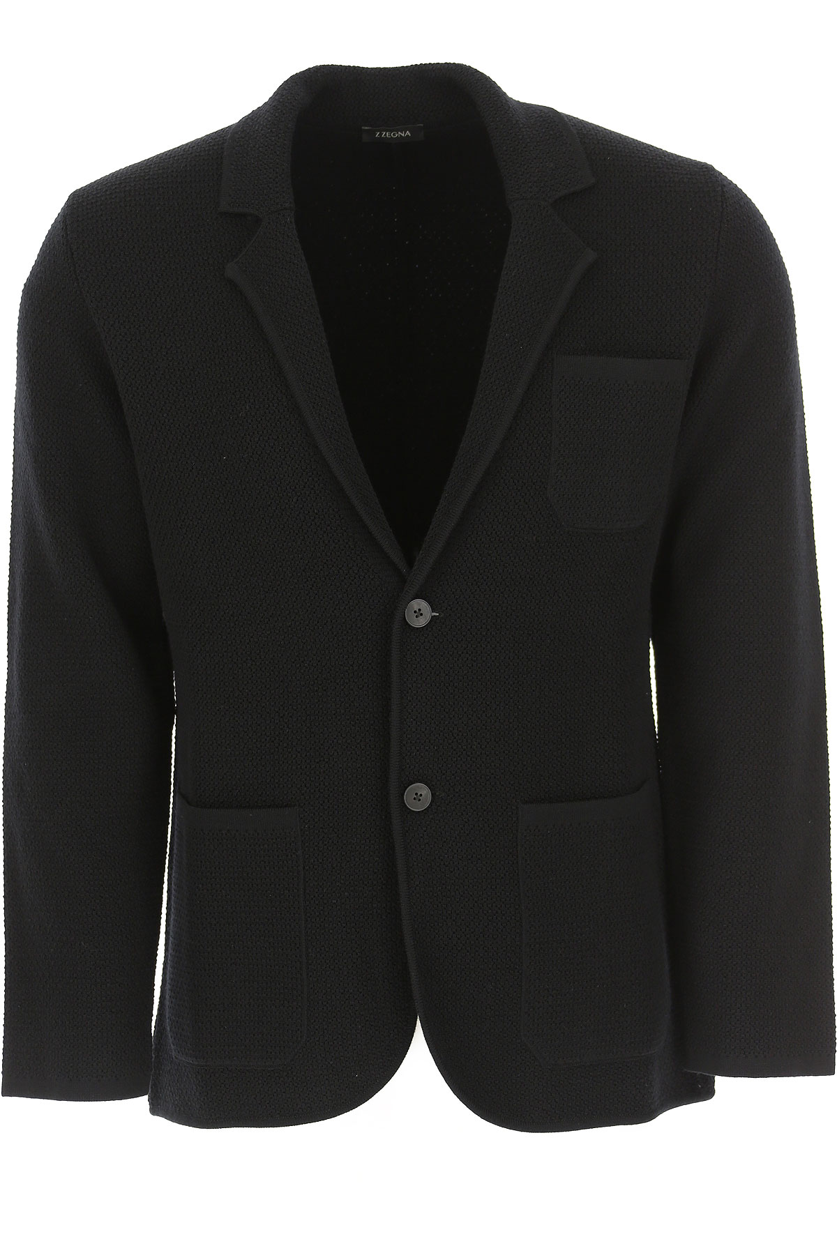 Ermenegildo Zegna Jacket for Men, Black, Wool, 2019, L M XL