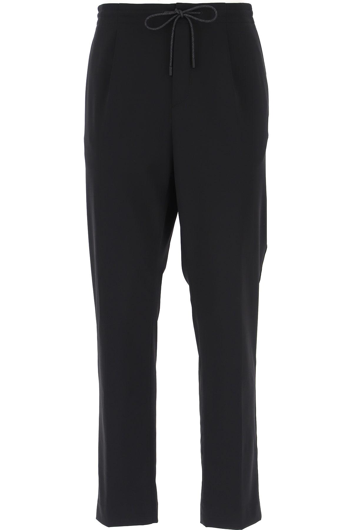 Ermenegildo Zegna Pants For Men, Black, Polyamide, 2021, 30 34