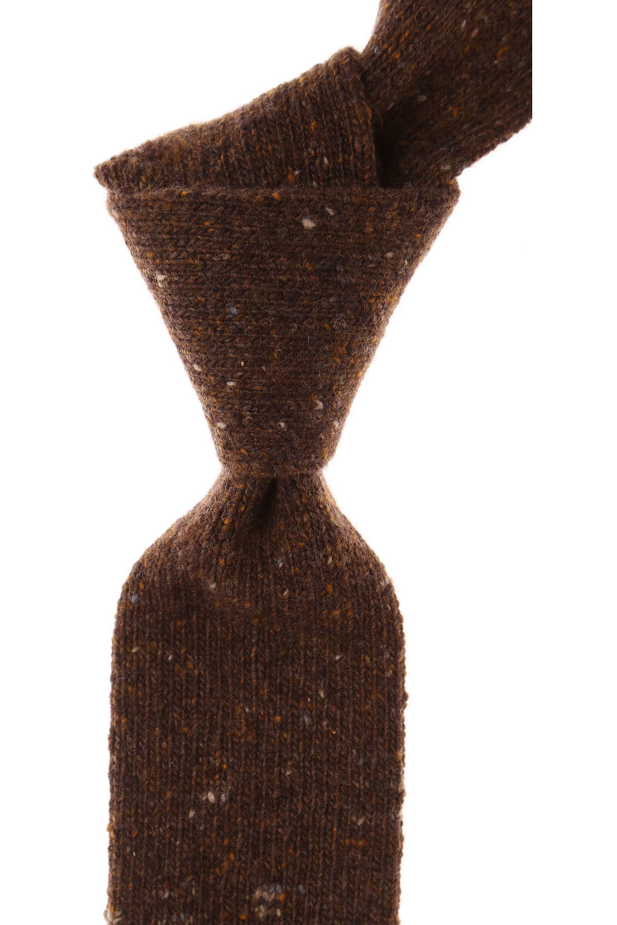 Ermenegildo_Zegna_Ties_On_Sale_Brown_Melange_Wool_2019