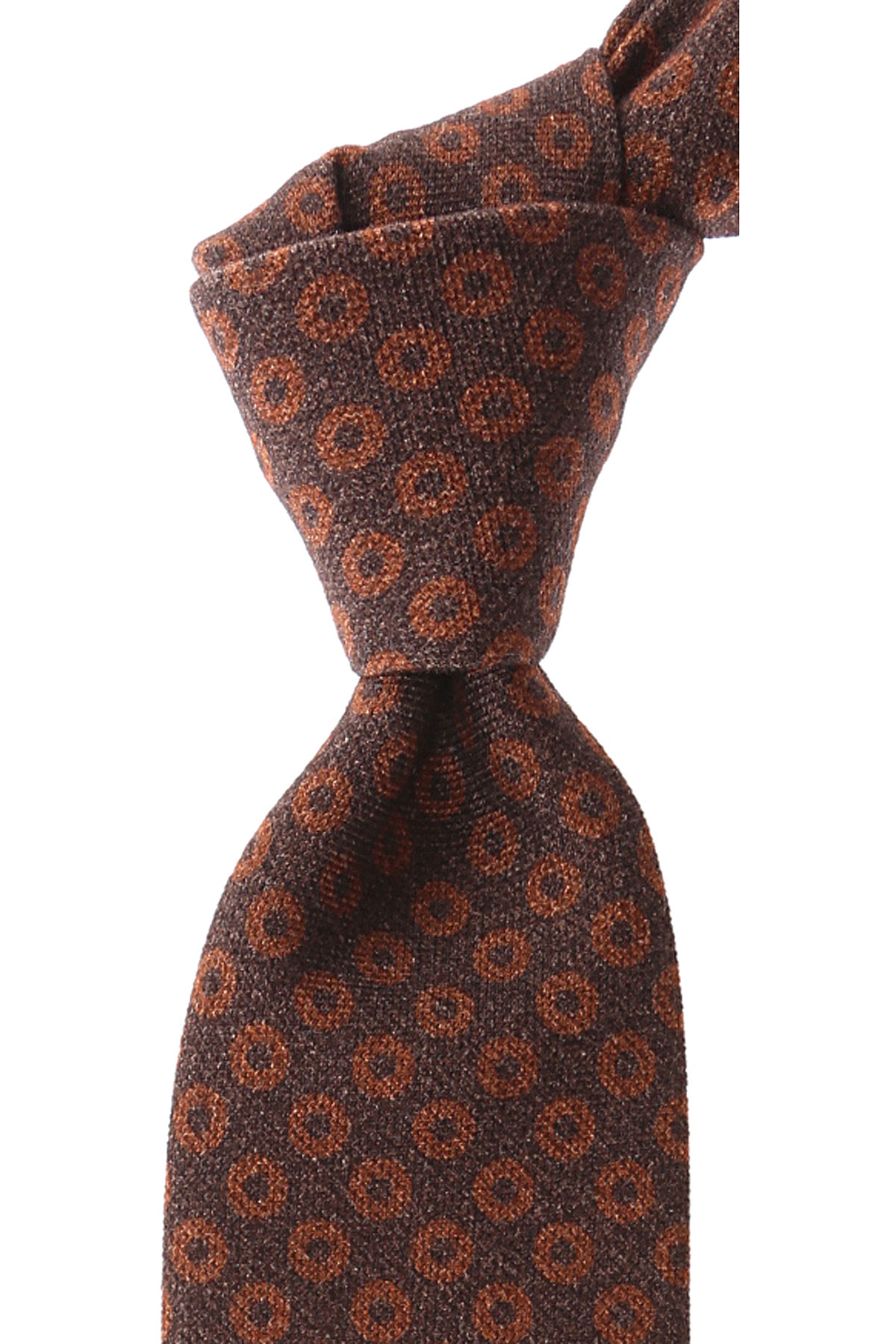 Ermenegildo_Zegna_Ties_On_Sale_Brown_Melange_Silk_2019