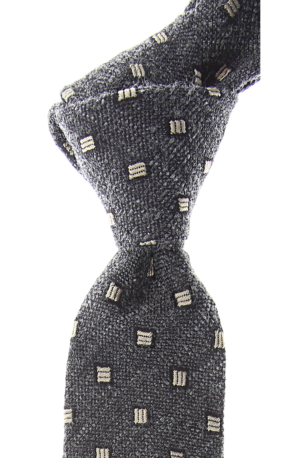 Ermenegildo_Zegna_Ties_On_Sale_Anthracite_Melange_Silk_2019