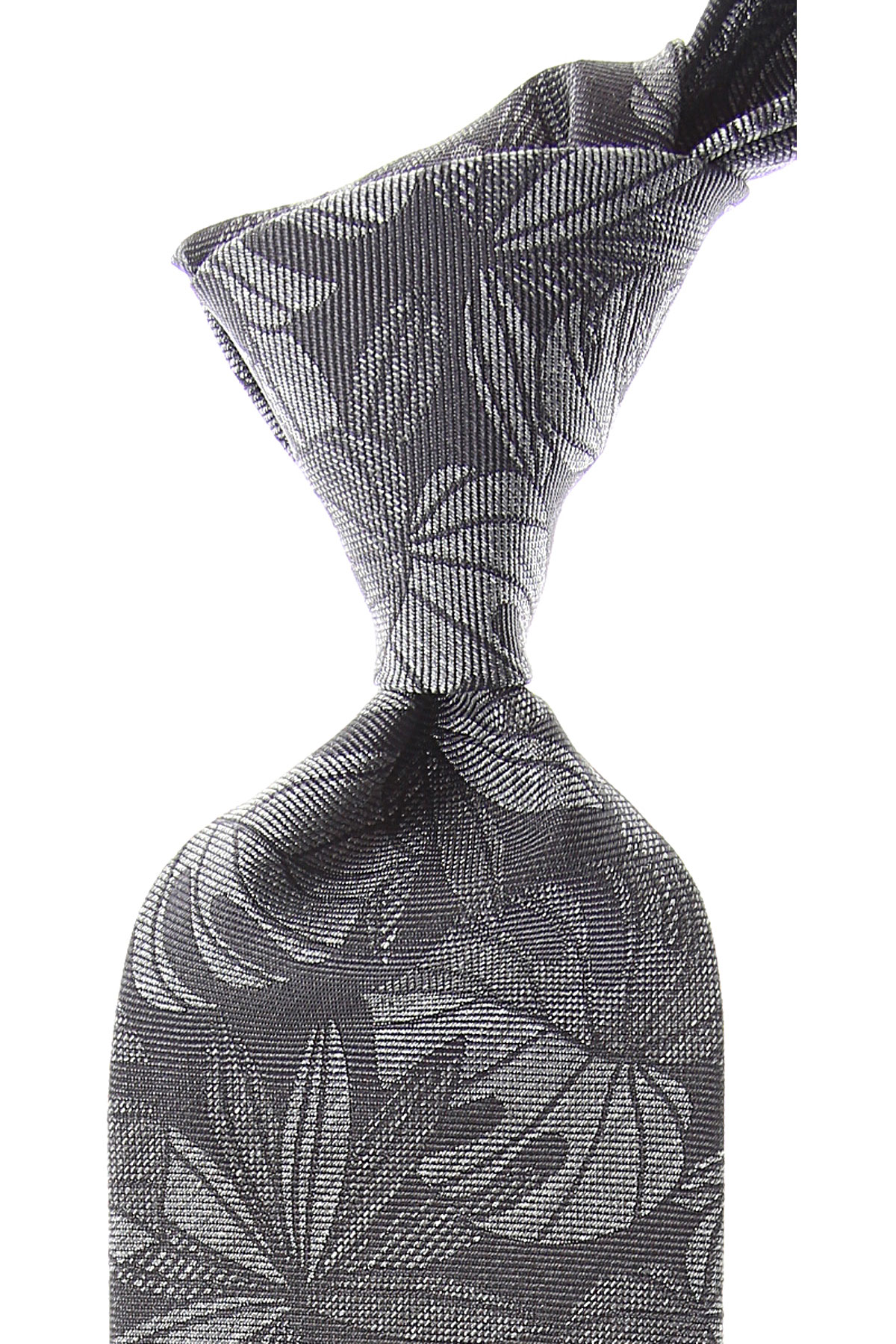 Ermenegildo_Zegna_Ties_On_Sale_Anthracite_Grey_Silk_2019