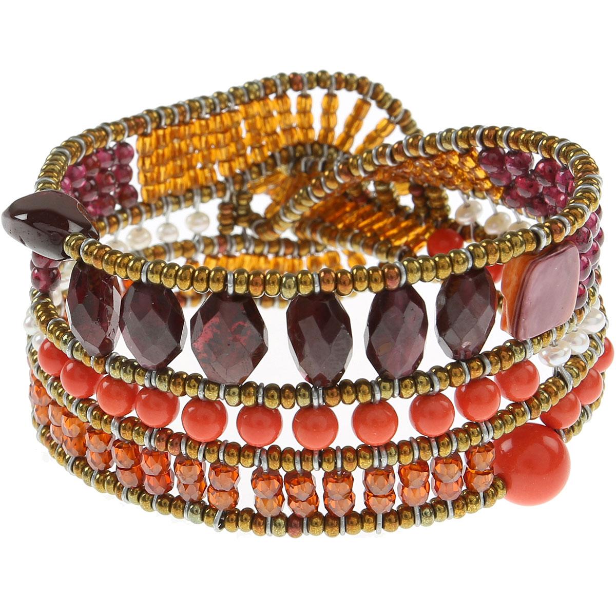 Ziio Jewellery Bracelet for Women On Sale, Orange, Garnet, 2019