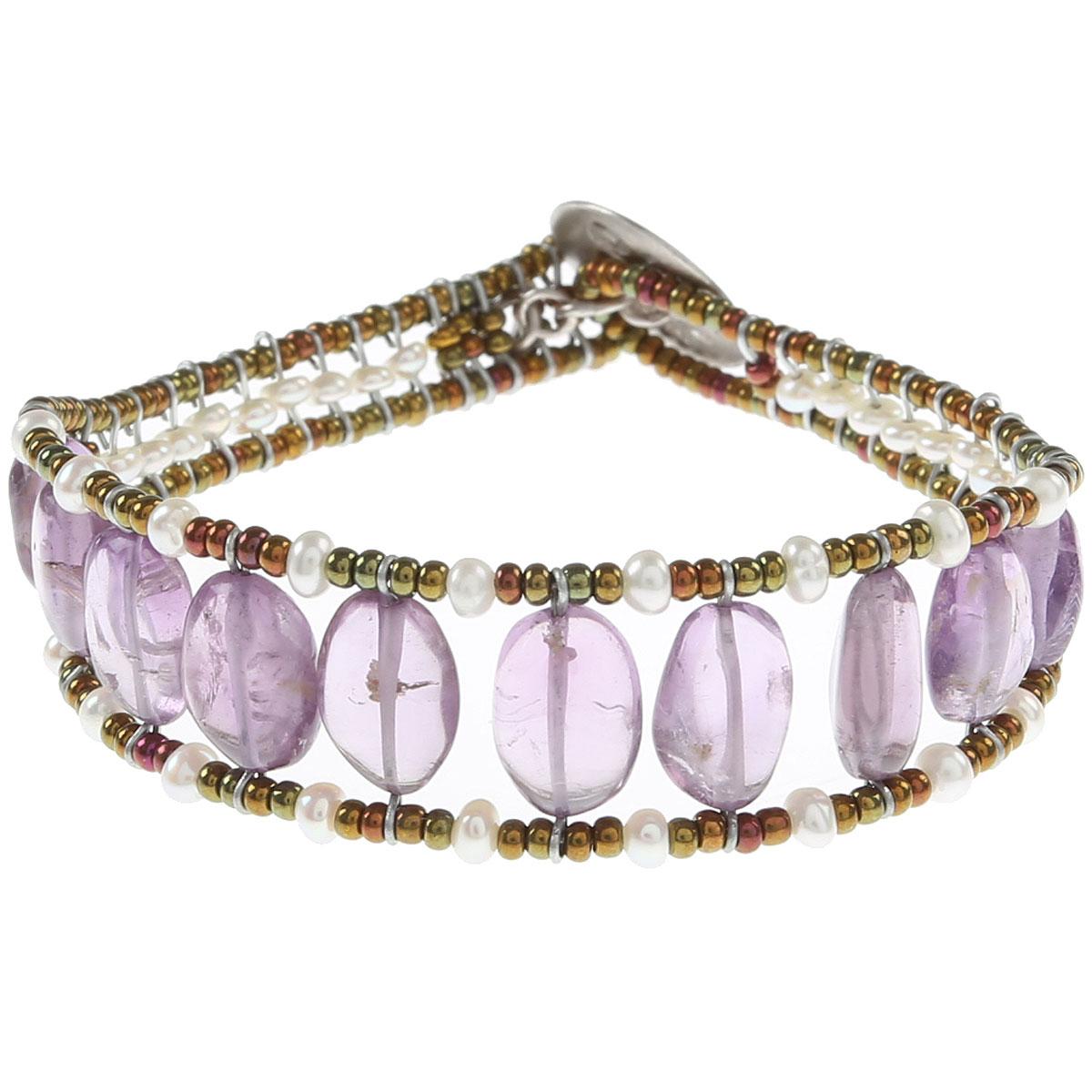 Ziio Jewellery Bracelet for Women On Sale, Violet, Amethyst, 2019