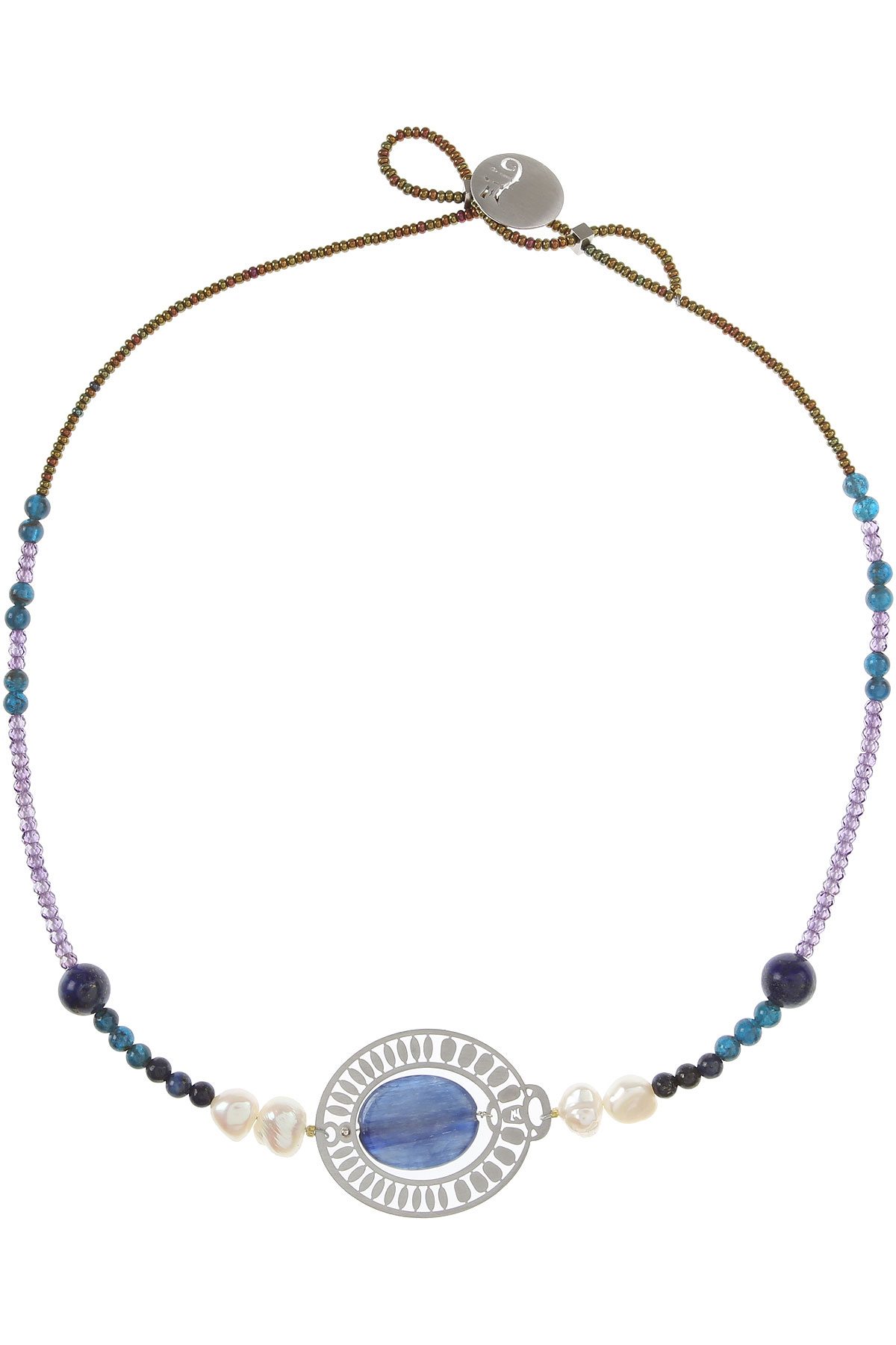 Ziio Jewellery Necklaces On Sale, Blue, Apatite, 2019