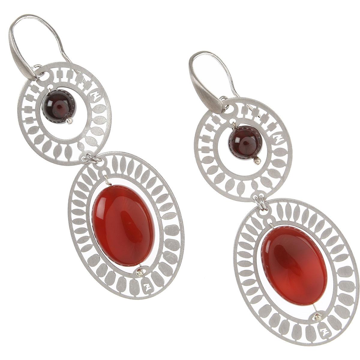 Ziio Jewellery Earrings for Women On Sale, Red, Agata, 2019